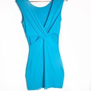 EUC Bebe Blue Reversible Bodycon Dress XS